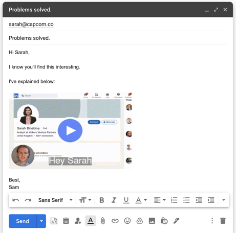 Video prospecting email